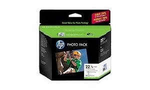 HP 22 HP NO 22 INK CART TRI-COLOUR + 25 SHEETS (Q8892AA)