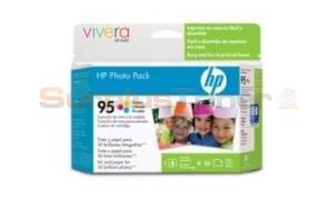 HP NO 95 INK TRI-COLOR + 60 SHEETS 13CM (5IN) X 18 CM (Q7925AA)