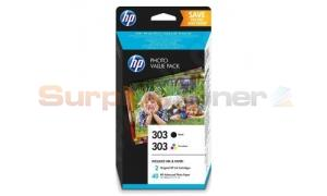 HP 303 INK BLACK/COLOR VALUE PACK + 40 SHEETS (Z4B62EE)