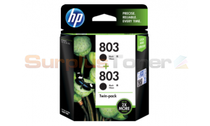 HP 803 INK CARTRIDGE BLACK TWIN-PACK (X4E77AA)