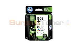 HP 803 INK CARTRIDGE BLACK/TRI-COLOR COMBO PACK (X4E76AA)