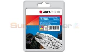 HP 302XL INK CARTRIDGE TRI-COLOR AGFAPHOTO (APHP302XLC)