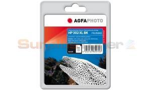 HP 302XL INK CARTRIDGE BLACK AGFAPHOTO (APHP302XLB)