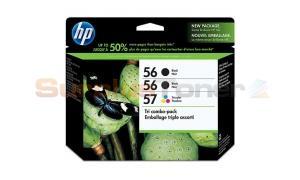 HP 56/56/57 INK CARTRIDGES BLACK/TRI-COLOR 3-PACK (CC631FN)