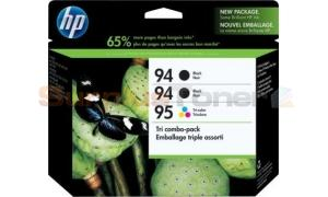 HP NO 94 95 INKJET CARTRIDGES TRI COMBO-PACK (SD424AN#140)