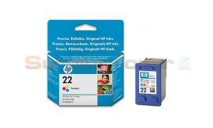 HP NO 22 INK CART TRI-COLOUR 170 PAGES (C9352AA)