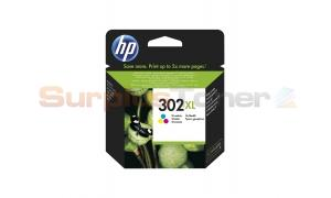 HP 302XL INK CARTRIDGE TRI-COLOR (F6U67AE)