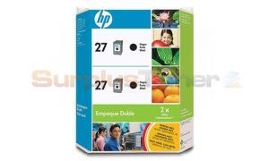 HP 27 INK CARTRIDGE TWIN PACK BLACK (Y2047AL)