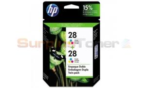 HP 28 INK CARTRIDGE TWIN PACK TRI-COLOR (Y2048AL)