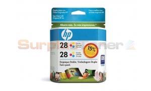 HP 28 INK CARTRIDGE TWIN PACK TRI-COLOR (CD995FL)