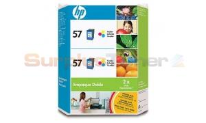 HP NO 57 INKJET CARTRIDGE TWINPACK TRI-COLOR (C9334AL)