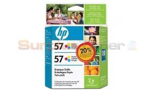 HP NO 57 INKJET CARTRIDGE TWINPACK TRI-COLOR (C9320FL)