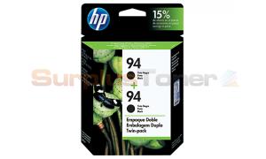 HP NO 94 INK CARTRIDGE TWIN PACK BLACK (C9350FL)
