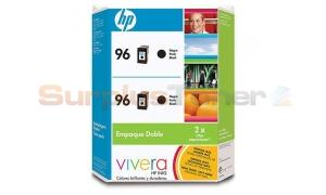 HP 96 LARGE INK CARTRIDGE TWIN PACK BLACK (C9510AL)