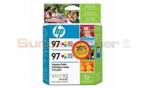HP 97 LARGE INK CARTRIDGE TWIN PACK TRI-COLOR (C9349FL)