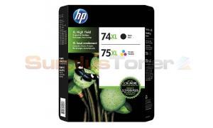 HP NO 74XL/75XL INK CTG COMBO PACK CMYK (M0J02BN)