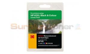 HP NO 62XL INK CARTRIDGE BLACK/COLOR KODAK (185H006217)