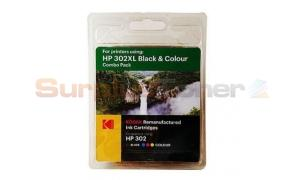 HP 302XL INK CARTRIDGE BLACK/COLOR KODAK (185H030217)