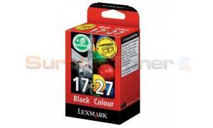 LEXMARK NO 17 27 INK CTG BLACK/COLOR COMBO PACK (80D2952)