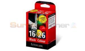 LEXMARK 16 26 BLACK AND COLOR PRINT CARTRIDGES (80D2126)