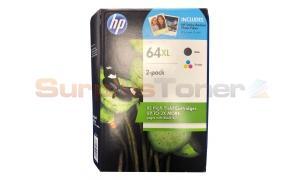 HP 64XL INK BLACK / TRI-COLOR (1VU47BN)