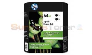 HP 64XL INK BLACK 2 PACK (X4D94BN)