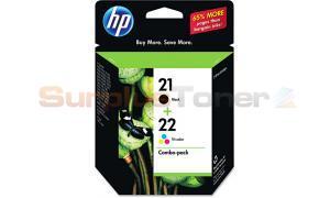 HP 21 22 PRINT CART CMYK COMBO PACK (C9509FN)