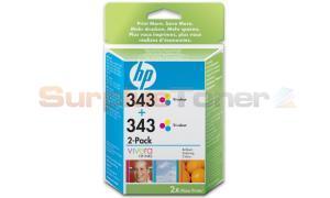 HP 343 INKJET PRINT CART TRI-COLOR 2-PACK (CB332EE)