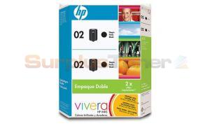 HP 02 INK CARTRIDGE BLACK TWIN-PACK (CC596BL)