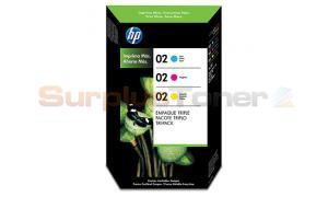 HP 02 INK CARTRIDGES COLOR TRI-PACK 1 CYAN 1 MAGENTA 1 YELLOW (CC618BL)
