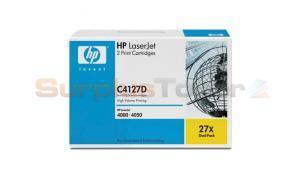 HP LASERJET 4000 PRINT CARTRIDGE BLACK DUAL PACK (C4127D)