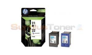 HP 21 22 INK CARTRIDGE CMYK COMBO-PACK (SD367AE)