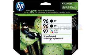 HP NO 96 97 INK CARTRIDGES 2-B/1-C 3PK (CD942FN)