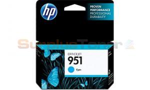 HP OFFICEJET NO 951 INK CARTRIDGE CYAN (CN050AN)