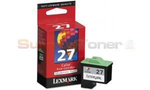 LEXMARK NO 27 PRINT CARTRIDGE COLOR (10N0376)