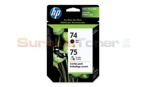 HP NO 74 75 INK CART BLACK/TRICOLOR COMBO PACK (CC659FC#140)