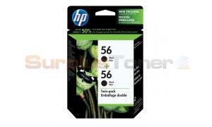 HP NO 56 INKJET CTG BLACK TWIN PACK (C9319BC#140)