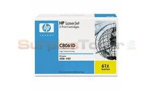 HP LASERJET 4100 PRINT CARTRIDGE BLACK DUAL PACK (C8061D)