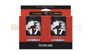 LEXMARK NO 17 INK CARTRIDGE BLACK TWIN PACK (53A0834)