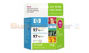 HP NO 97 INK TRI-COLOR TWINPACK (C9349FN)