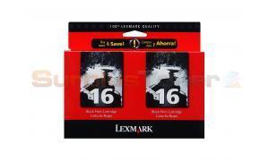 LEXMARK NO 16 PRINT CARTRIDGE BLACK MONO CLUB PACK (10N0200)