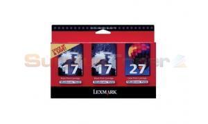 LEXMARK NO 17/17/27 PRINT CARTRIDGES TRI PACK (10N1094)