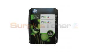 HP NO 75XL INKJET PRINT CTG CMY TWIN-PACK (CH624BN)