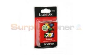 LEXMARK NO. 27 INK CARTRIDGE COLOR (10NX227BL)