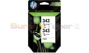HP 343 INK CARTRIDGE TRI-COLOR 2-PACK (CB332EE#301)