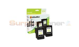 HP 94 INK CARTRIDGE BLACK TWIN-PACK OFFICEMAX (OM96546)