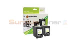 HP 27 INK CARTRIDGE BLACK TWIN-PACK OFFICEMAX (OM96548)
