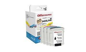 HP 940XL/940 INK CMYK MULTI VALUE PACK OFFICE DEPOT (OD940XLK940CMY-C)