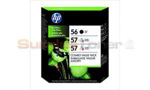 HP 56/57 INK CART BLACK/TRI-COLOR COMBO VALUE PACK (C8800BN)