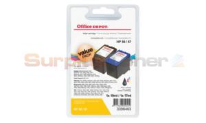 HP 56 57 INK CTG CMYK VALUE PACK OFFICE DEPOT (3396463)